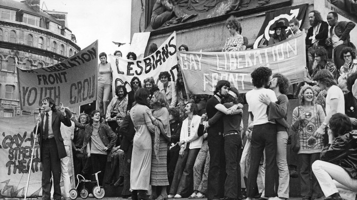 GLF demo - August 1971 - First major gay demo in UK