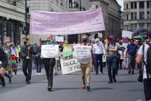 Gay Liberation Front 50th Anniversary March, London Pride 27th J